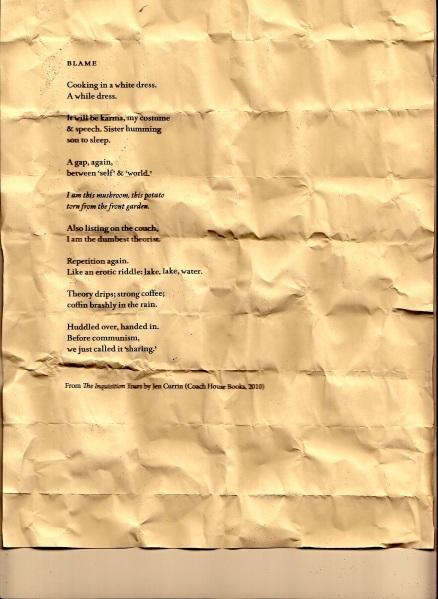 Blame - Poem at word fest