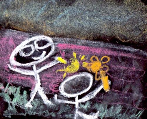 Find a chalking friend!