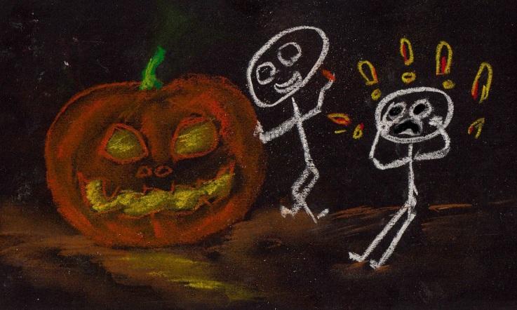 Pumpkin Chalking... Boo!