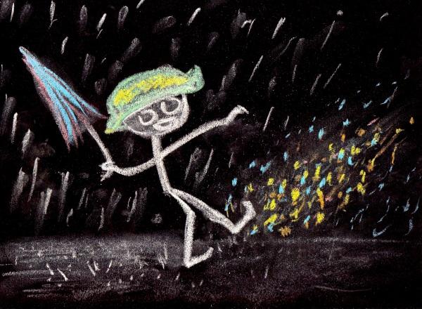 I'm Chalkin' In The Rain... Just Chalkin' In The Rain!
