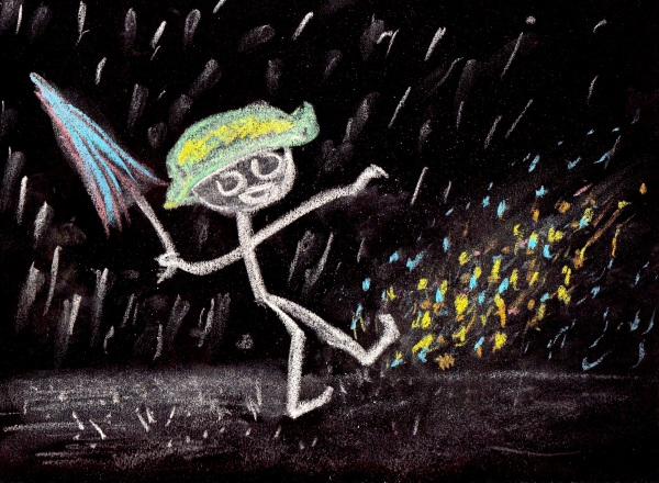 I'm Chalkin' In The Rain... Just Chalkin' In The Rain!