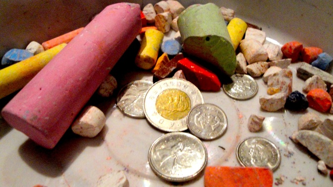 $2.80 - our first chalk donation!
